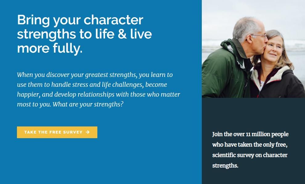 Wypełnij kwestionariusz mocnych stron VIA Character